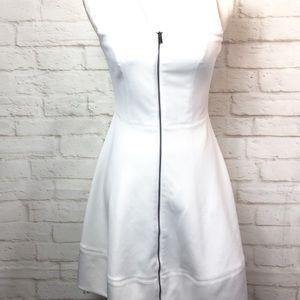 Vince Camuto Front Zip Fit & Flare Scuba Dress